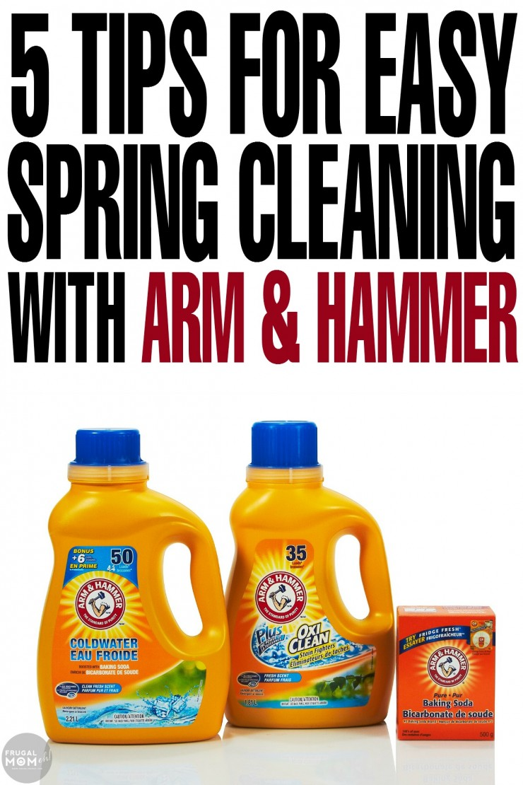 5 tips for easy spring cleaning with arm hammer frugal mom eh - Five home easy cleaning tips ...