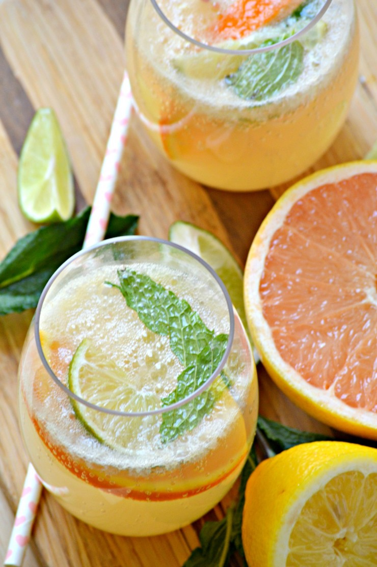 This Grapefruit Mojito Mocktail is a delightful citrus virgin drink that is sure to please all summer long.