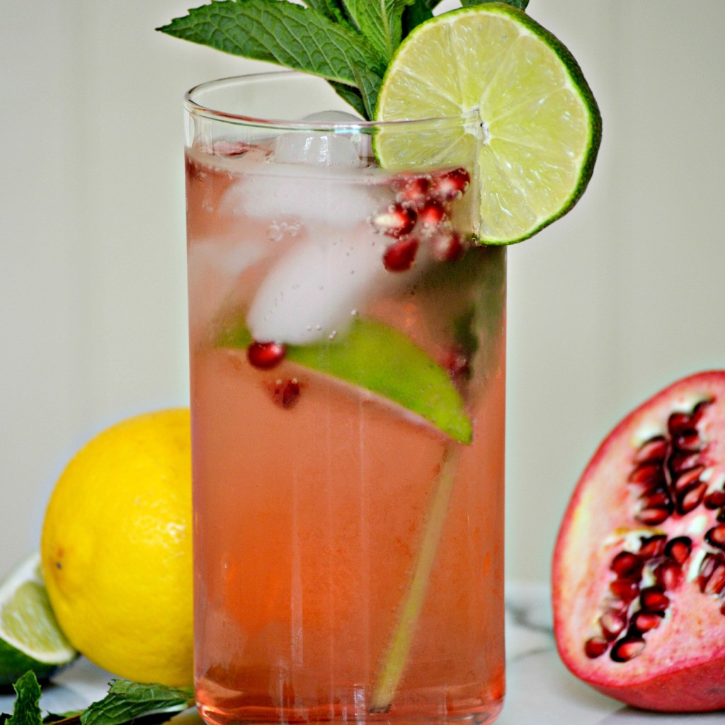 Pomegranate Mojito Mocktail - Frugal Mom Eh!