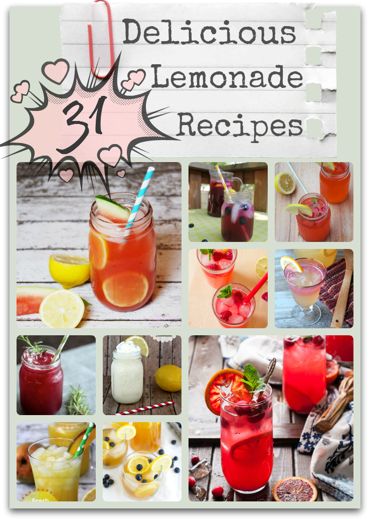 31 delicious lemonade recipes perfect for cooling down fromt he summer heat with. There is nothing like a cool drink of lemonade!