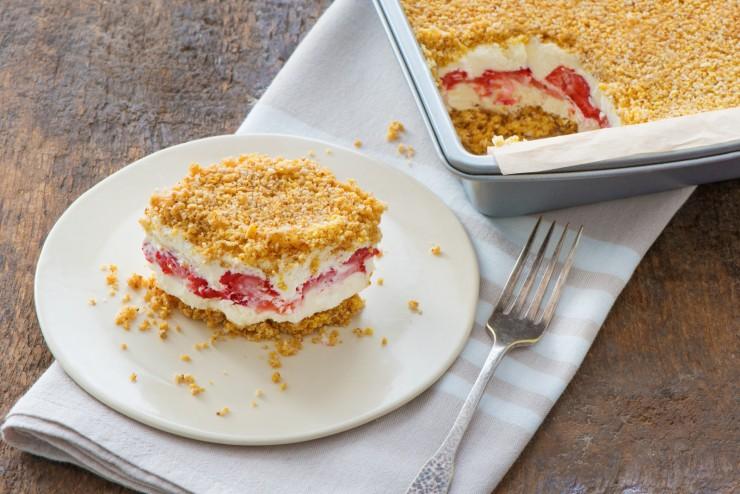 No-Bake Berry Crumble Icebox Cake