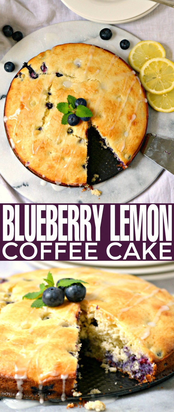 This Blueberry Lemon Coffee Cake recipe is loaded with flavour - it's a dessert everyone just loves to sit down and eat with a mug of hot coffee!