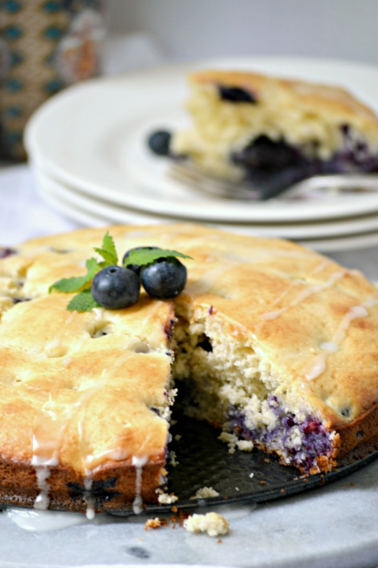 This Blueberry Lemon Coffee Cake reecipe is loaded with flavour - it's ...