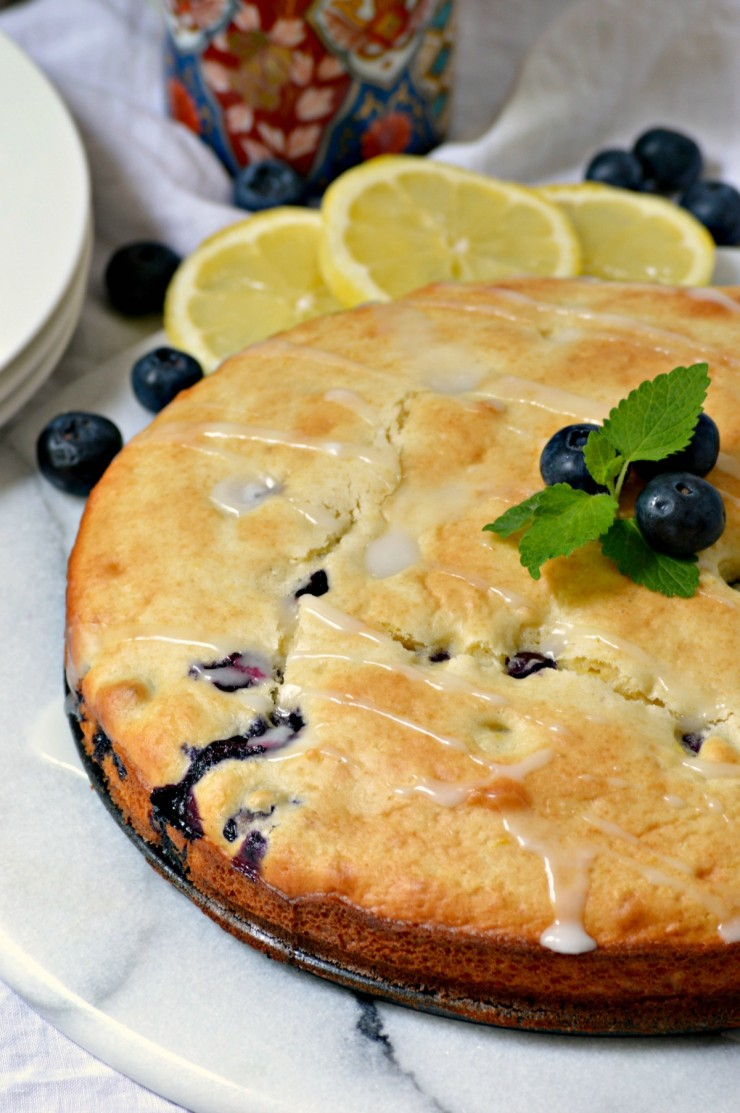 Blueberry Lemon Coffee Cake - Frugal Mom Eh!