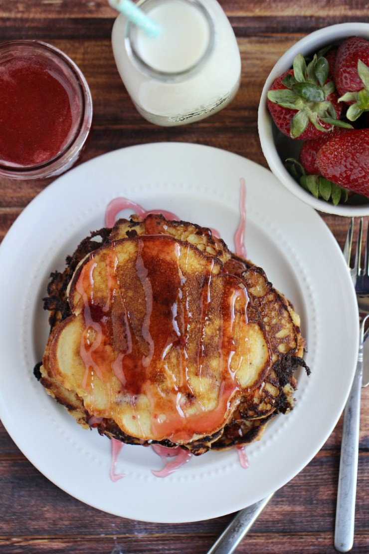 Gluten Free Strawberry Protein Pancakes With Homemade