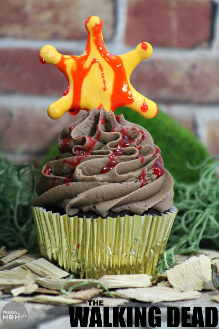 If you are a fan of AMC's The Walking Dead then these The Walking Dead Cupcakes are a great way to celebrate the upcoming season featuring Rick Grime's Sheriff Badge.
