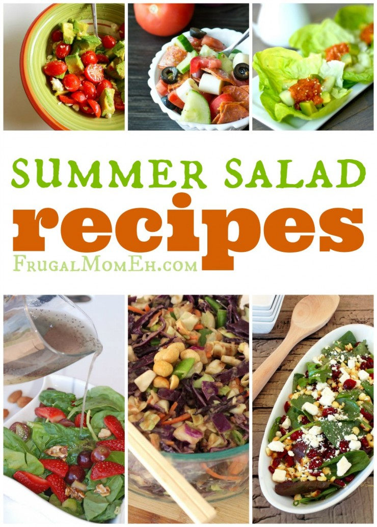 These summer salad recipes include everything from light spinach salads to hearty coleslaw's and even an incredible looking green been salad.