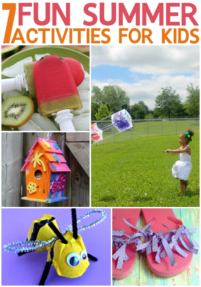 7 Fun Summer Activities for Kids to keep boredom at bay keep them entertained with fun and easy crafts during summer break.