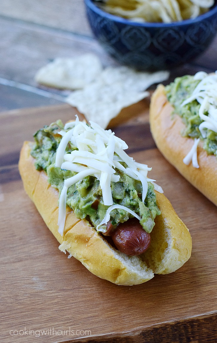 California-Dogs-all-beef-hot-dogs-wrapped-in-bacon-and-topped-with-guacamole-and-Monterey-Jack-cheese-cookingwithcurls.com_