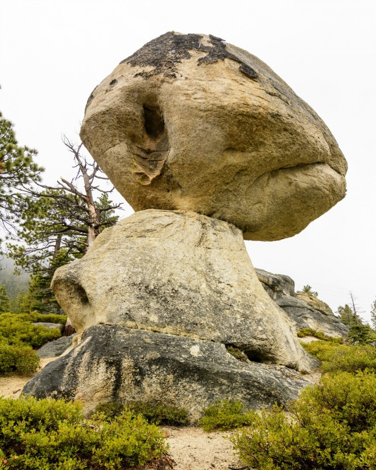 The Balancing Rock in the D. L. Bliss State Park near Lake Tahoe in California