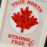 True North Strong & Free Button Art with Free Printable Template