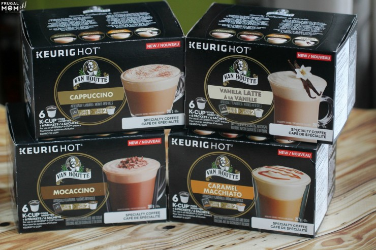Treat yourself with the NEW Van Houtte Specialty Collection including cappuccino, moccaccino, caramel macchiato and vanilla latte.
