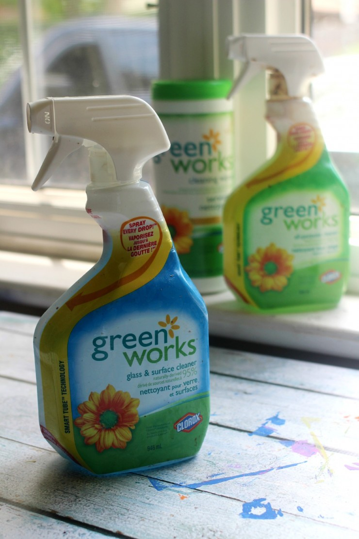 Green Works Naturally-Derived Products to help you clean up all those #GloriousMesses!