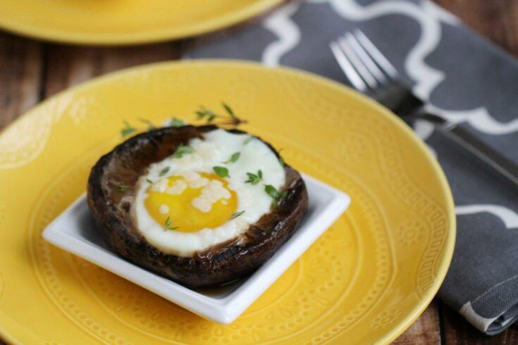 Grilled Eggs in Portobello Mushrooms
