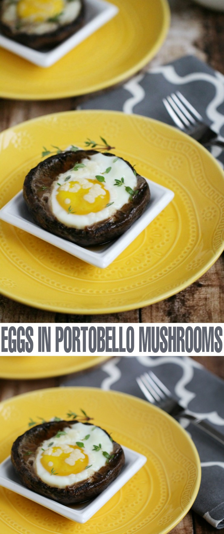 These Grilled Eggs in Portobello Mushrooms are Perfect for a Summer Barbecue - grill them up for breakfast, lunch or dinner!
