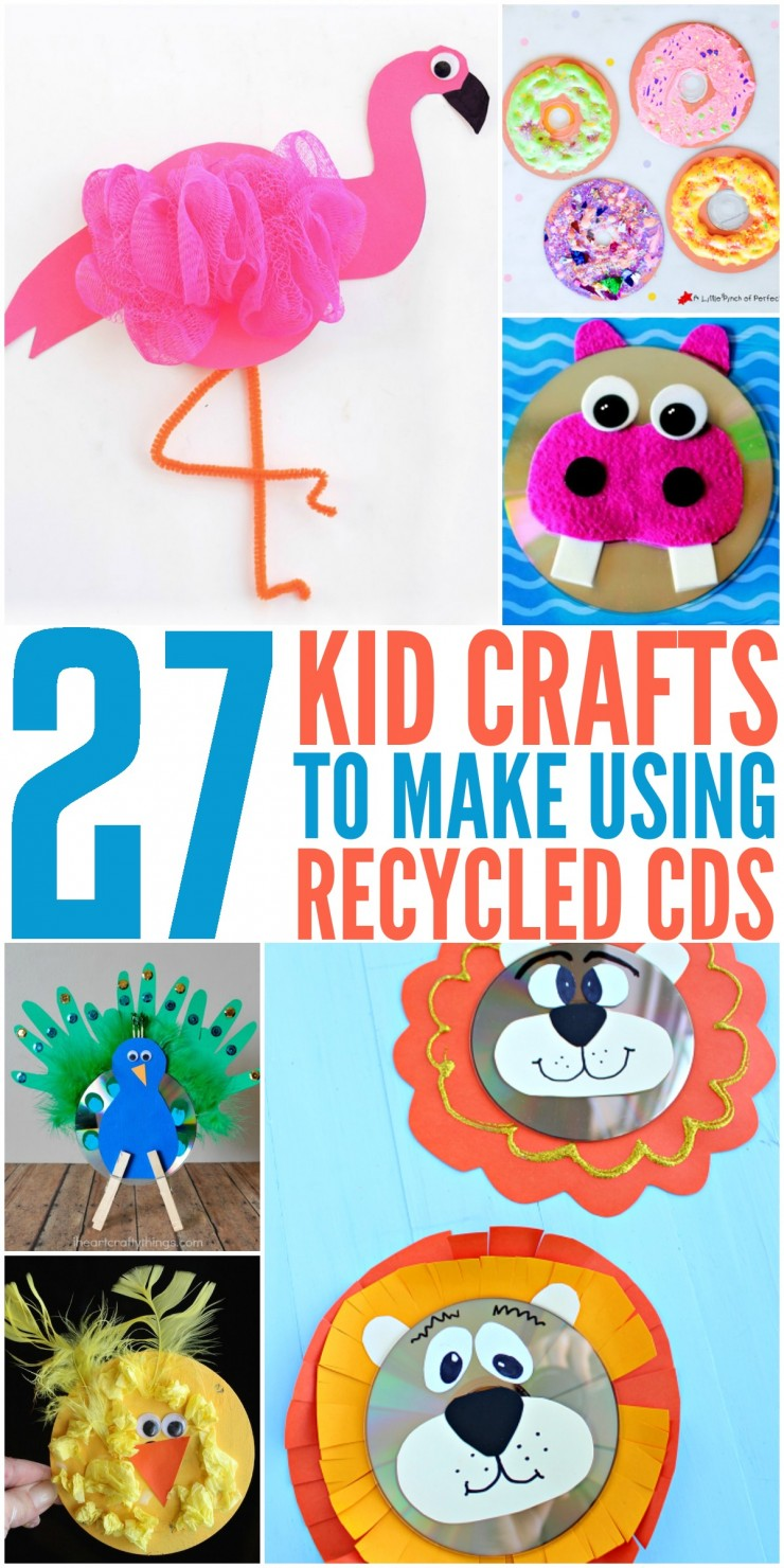 27 Kids Crafts to Make Using Recycled CDs