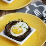 Grilled Eggs in Portobello Mushrooms