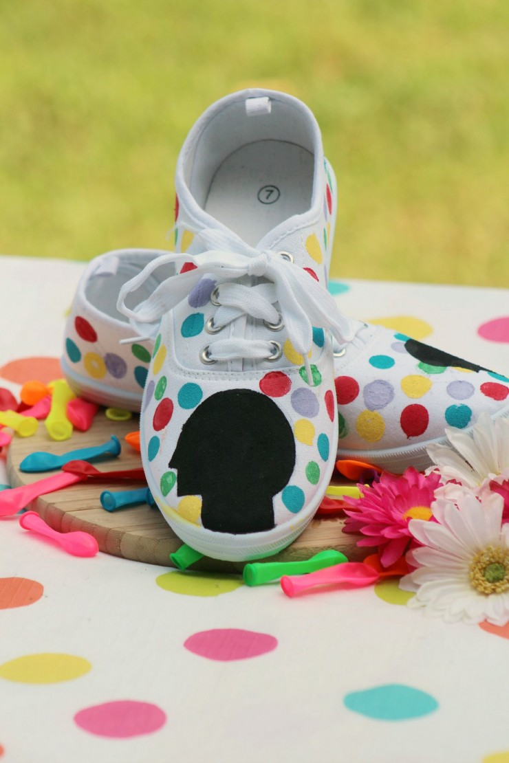 "DIY Disney's ""Inside Out"" Themed Shoes"