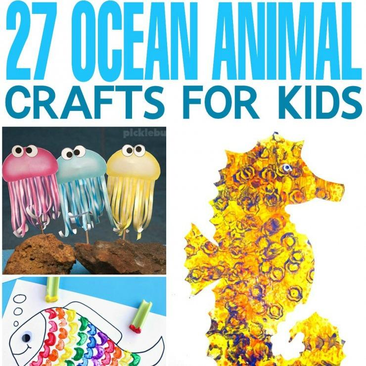 27 Ocean Animal Crafts for Kids - Frugal Mom Eh!