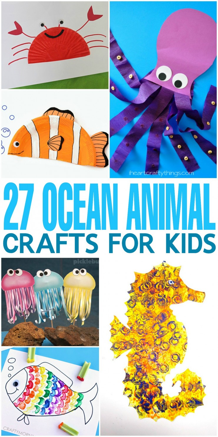 27 Ocean Animal Crafts for Kids - Frugal Mom Eh!