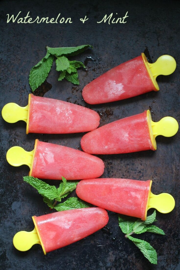 Watermelon and Mint Ice Pops