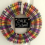 Back To School Crayon Wreath