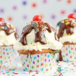 Celebrate a Special Birthday with Ice Cream Sundae Cupcakes