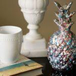 Paint Splatter Pineapple Home Decor