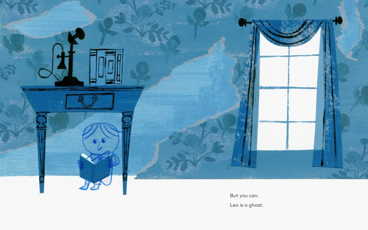 Leo: A Ghost Story by Mac Barnett, illustrated by Christian Robinson