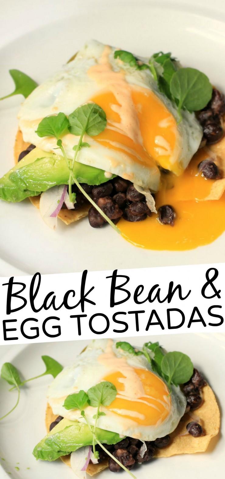 Black Bean and Egg Tostadas