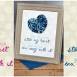 """Stole My Heart"" Yarn Nursery Decor with Free Printable"