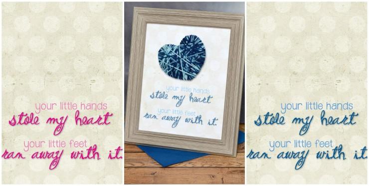 """Stole My Heart"" Yarn Nursery Decor with Free Printable"