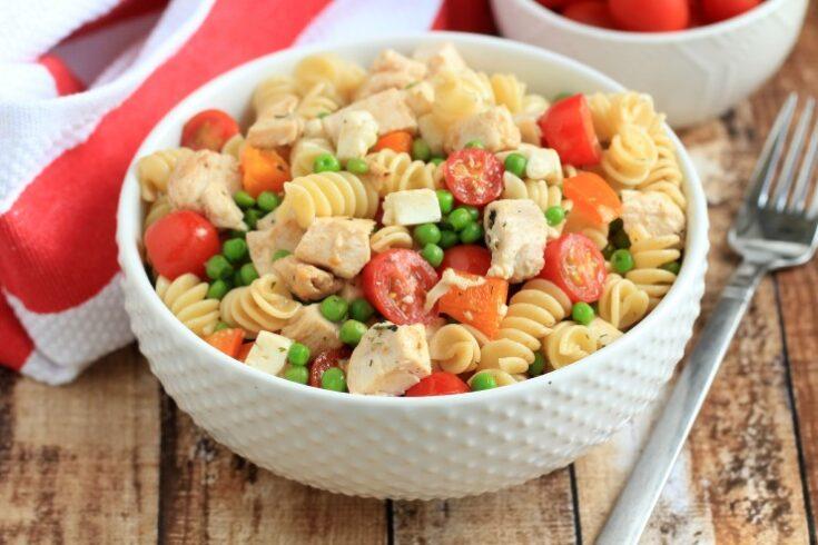Chicken and Pea Pasta Salad