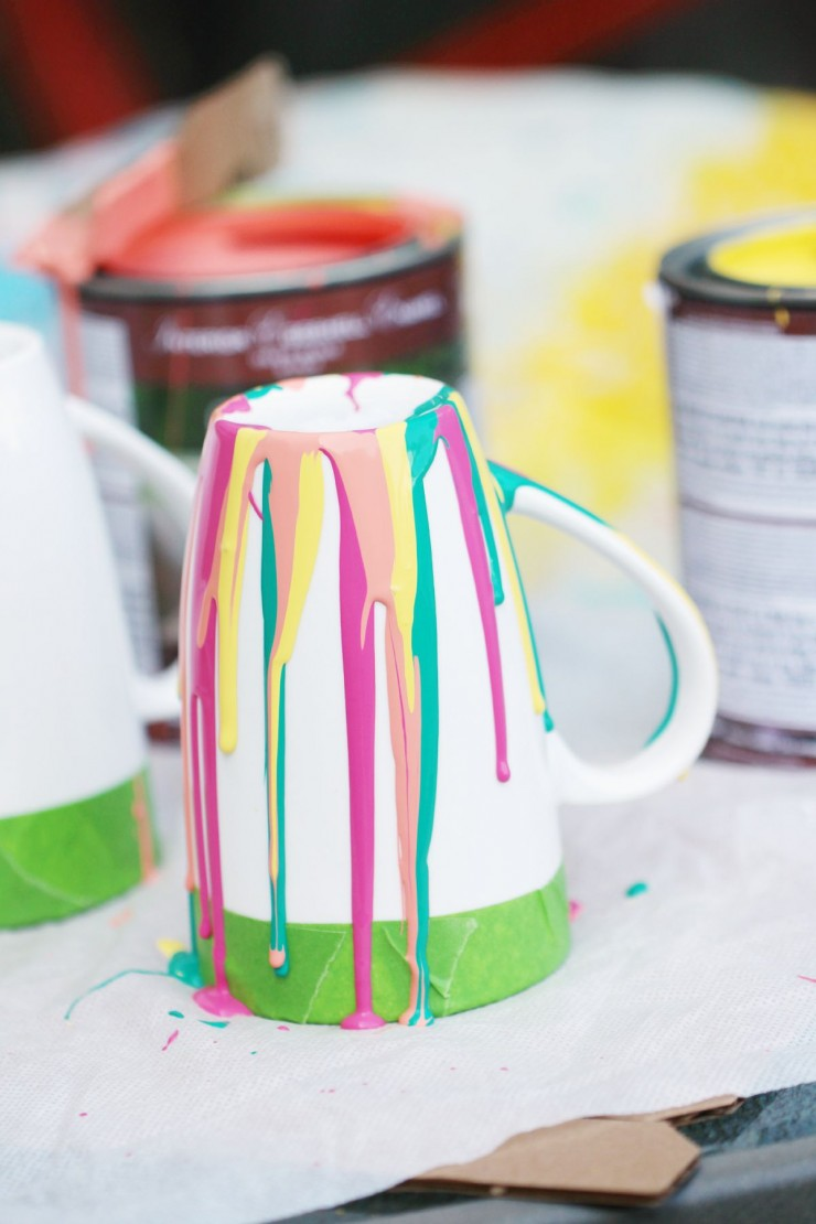 Diy Paint Drip Coffee Mugs Frugal Mom Eh