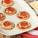 Cracker Pizzas made with Nairn's Oat Crackers