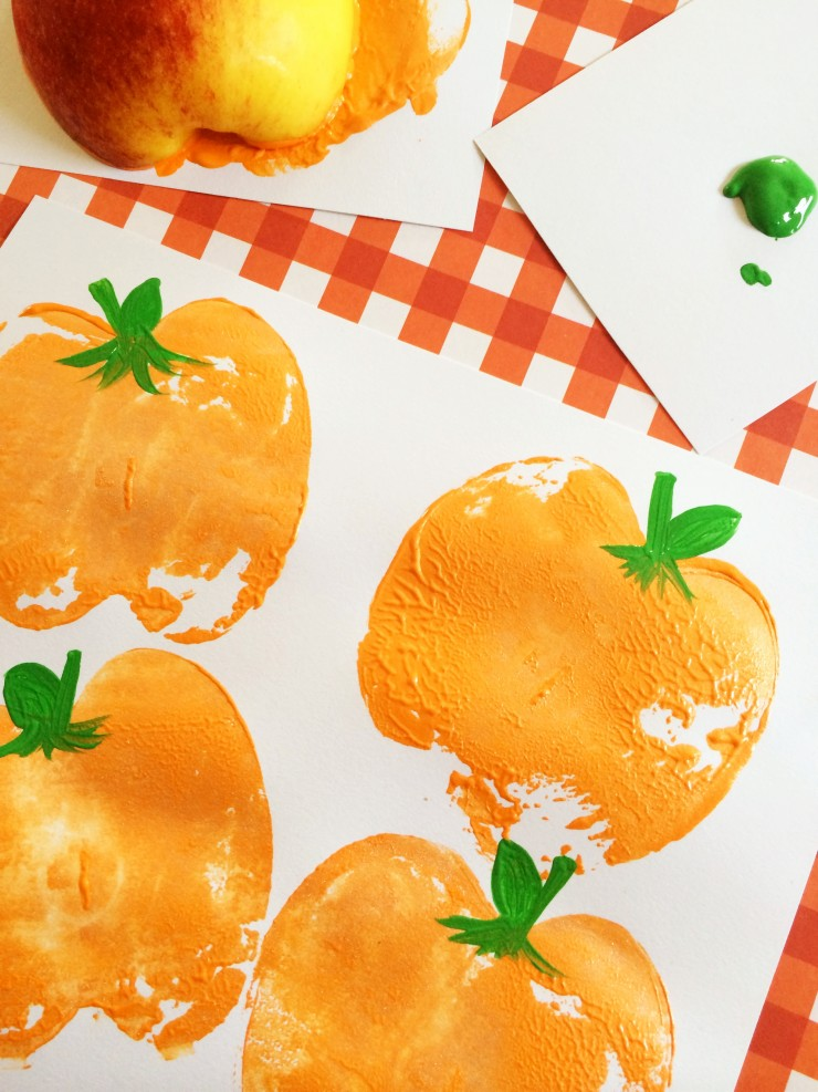 Pumpkin Apple Stamps Craft