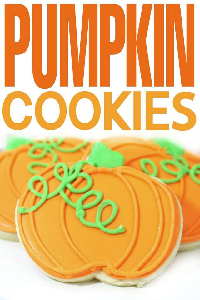 These Pumpkin Cookies are a fun autumn treat or a great Halloween dessert.
