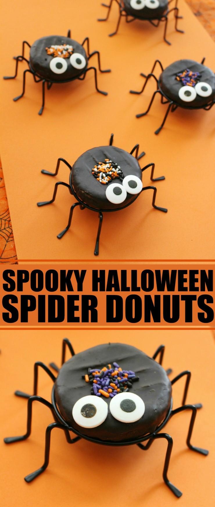 Spooky Halloween Spider Donuts