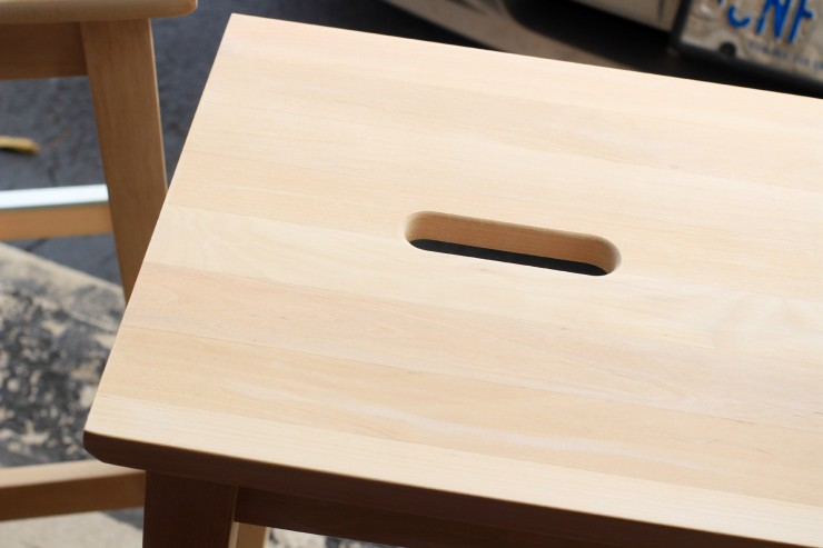 IMIKEA Hack: Kitchen Furniture Makeover - IKEA BOSSE stool makeover and IKEA BEKVÄM Kitchen cart makeover with BEHR paint and a little stain,