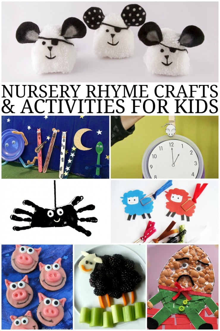 Nursery Rhyme Crafts and Activities for Kids including Humpty Dumpty, Little Bo Peep, This Little Piggy and more!