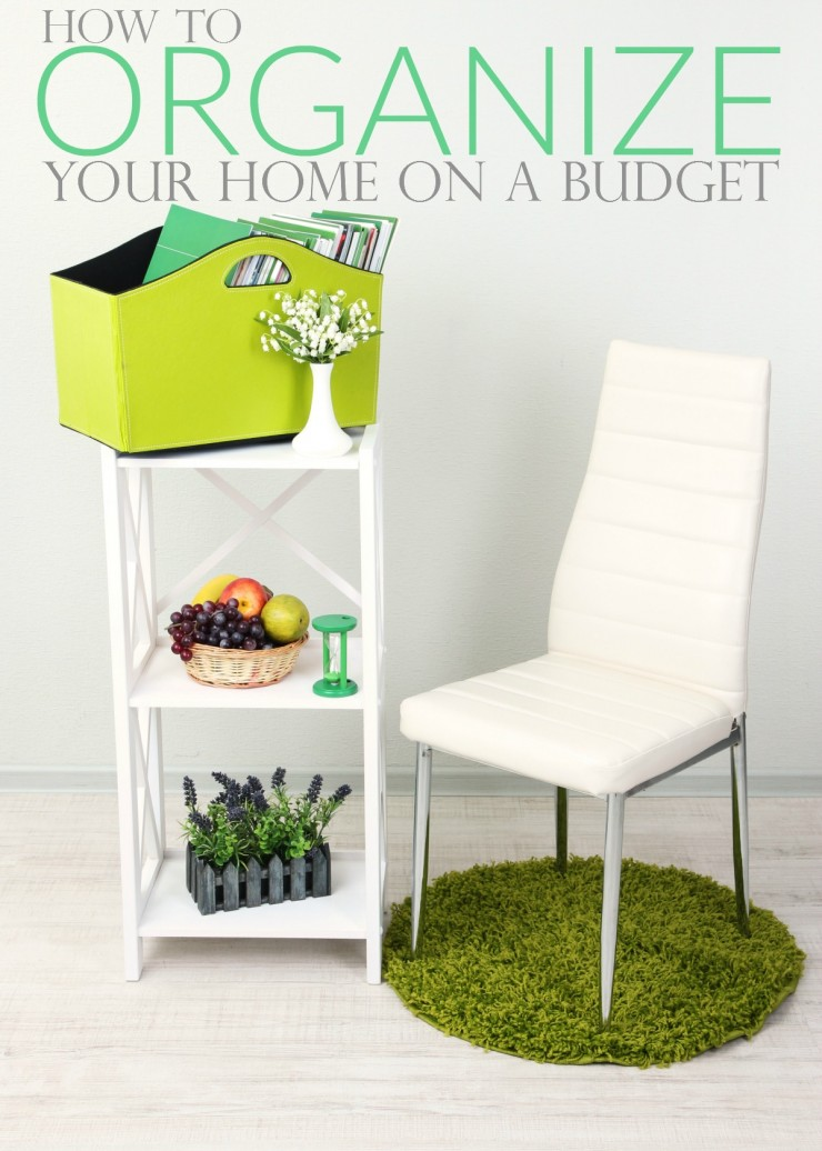 How to Organize Your Home on a Budget with these great frugal tips and tricks!