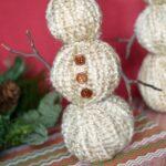 Yarn Wrapped Snowmen