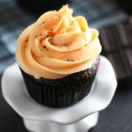Chocolate Cupcakes with Orange Buttercream Frosting