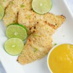 Coconut Crusted Cod with Mango Sauce