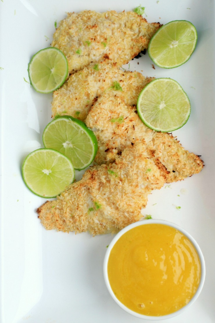 This Coconut Crusted Cod with Mango Sauce can be made in 20 minutes and is full of Caribbean Flavours!