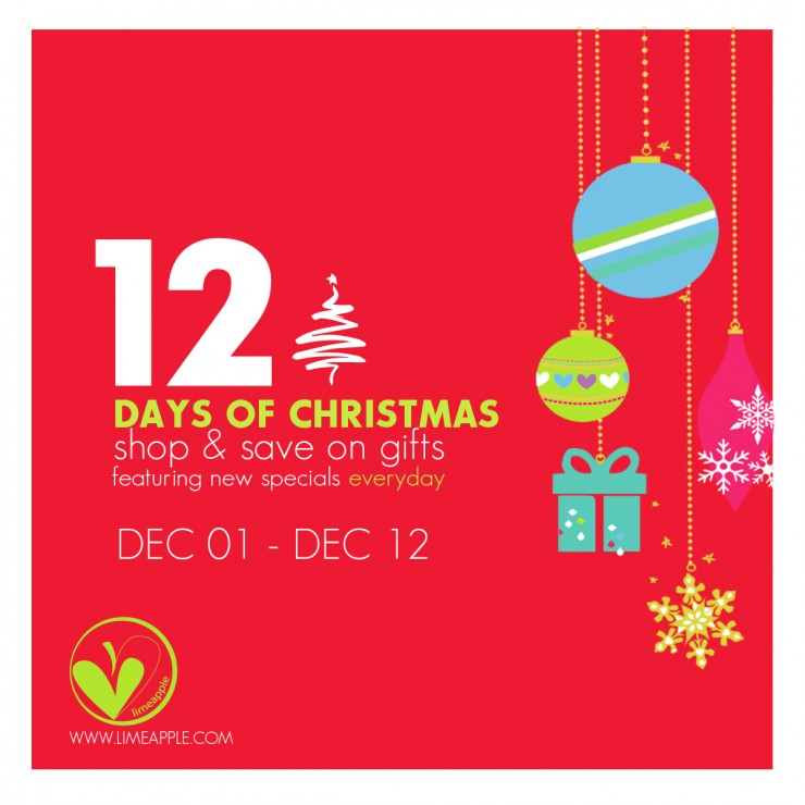 12 Days of Christmas Deals with Limeapple