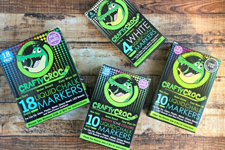 CraftyCroc Liquid Chalk Markers & Adhesive Chalkboard Labels