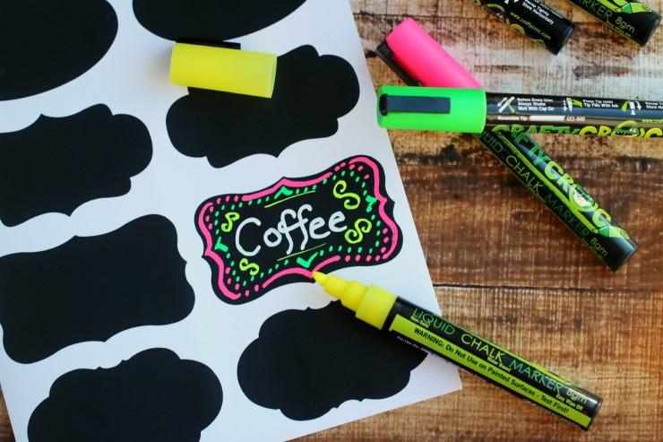 CraftyCroc Liquid Chalk Markers & Adhesive Chalkboard Labels #FMEGifts2015