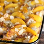 Peach French Toast Bake with Almonds