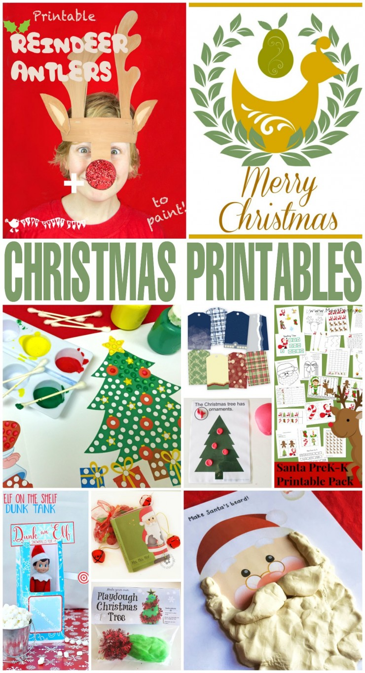 101+ Free Christmas Printables including educational Christmas printables, Christmas printables for kids, holiday home decor printables, and more.